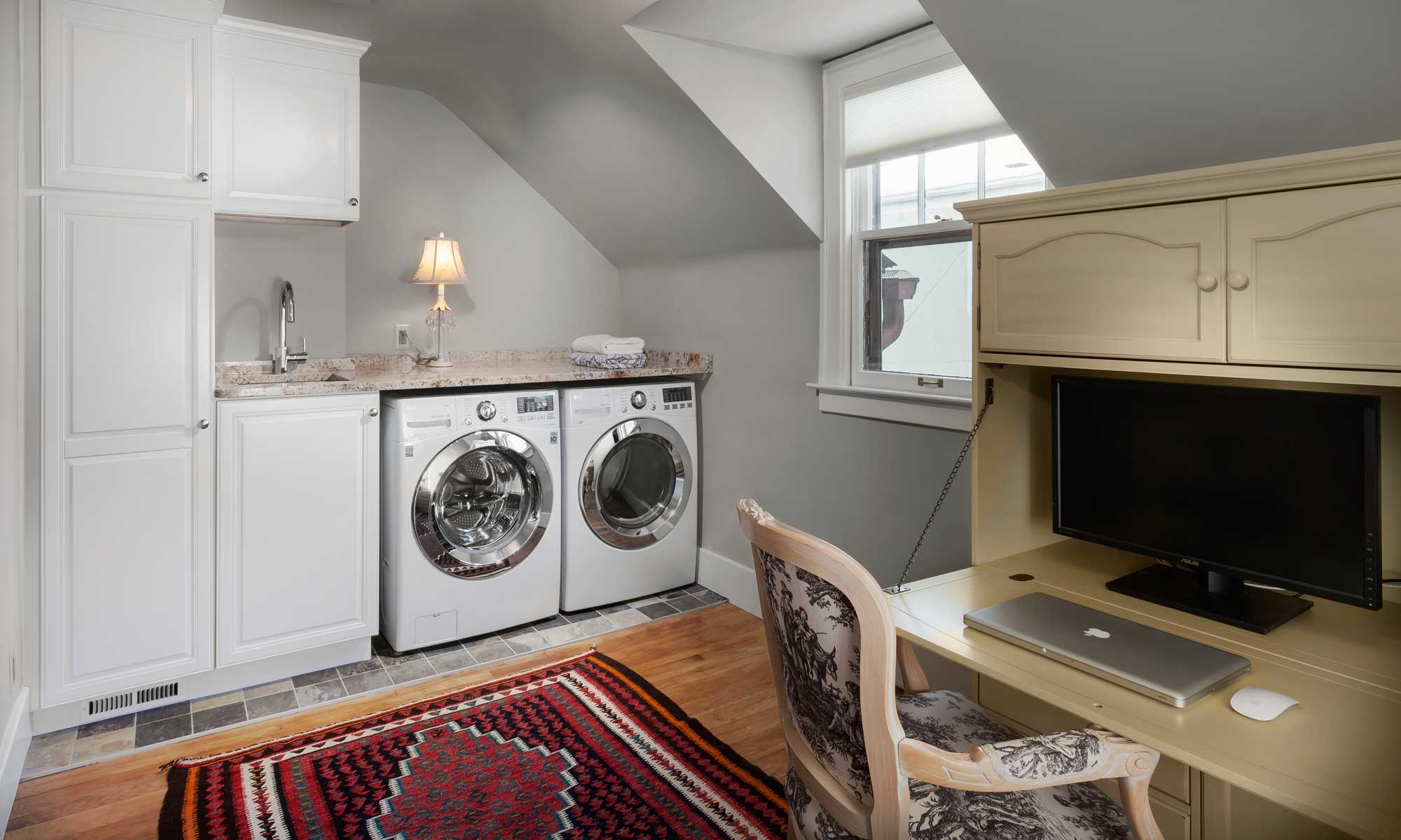 upstairs laundry for english cottage