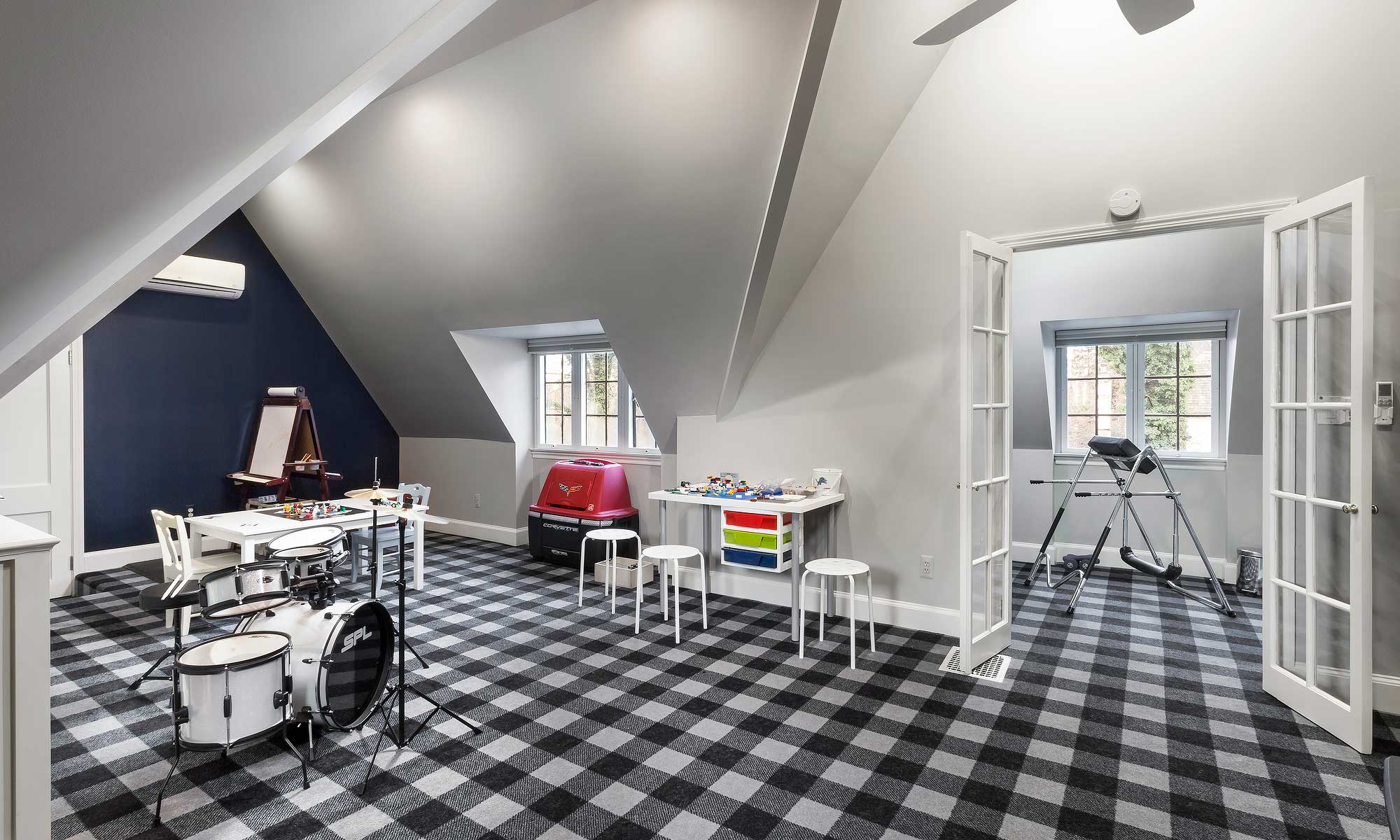 attic conversion to kids room